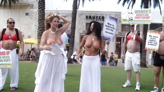 Topless protest on the Miami beach of Florida--_short_preview.mp4