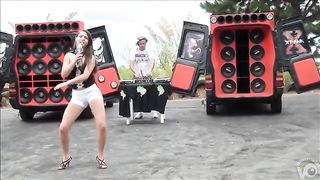 Teen Latina dancing and singing in a parking lot--_short_preview.mp4