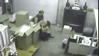 Boss blows the warehouse worker on security camera--_short_preview.mp4