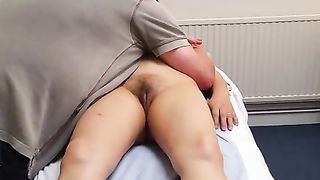 Massage therapist uses strong fingers on my pubis--_short_preview.mp4