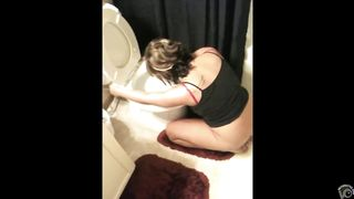 Drunk chick tries to throw up in the toilet--_short_preview.mp4