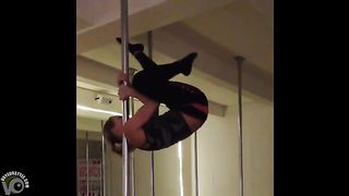 Blonde sweetheart practices her pole skills--_short_preview.mp4