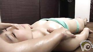Cute model in a tube top bikini gets an oily rubdown--_short_preview.mp4
