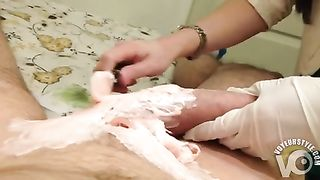Master enjoys waxing the area around my large penis--_short_preview.mp4