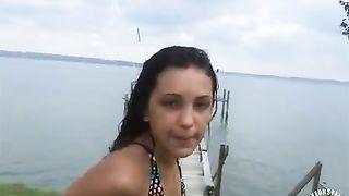 Athletic senorita took a slash on the docks--_short_preview.mp4