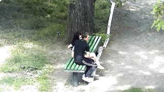 Russian lovers kiss and caress each other in the city park--_short_preview.mp4