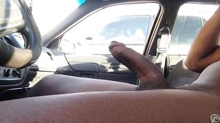 Nude black dude in a car jerks off--_short_preview.mp4