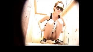 Sweet Russian teen in sunglasses peeing over the toilet--_short_preview.mp4