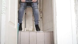 Hot young brunette girl in jeans shows her pussy in the toilet--_short_preview.mp4