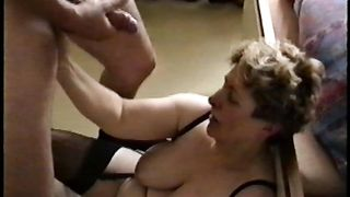 Jerking off and cumming all over my mature BBW wife's big tits--_short_preview.mp4