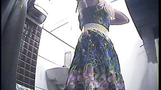 Gorgeous blonde white girl in sexy dress pisses in the toilet room--_short_preview.mp4