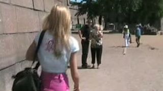 Fantastic and slutty blonde Russian girl shows her goodies in public places--_short_preview.mp4