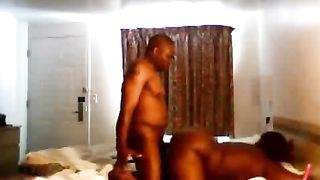 Drilling my phat and bossy ebony hoe's soaking cunt doggystyle--_short_preview.mp4