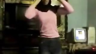 Pretty Arab girl dances in front of a camera in homemade video--_short_preview.mp4