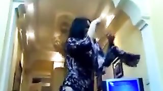 Brunette cute Arabic teen in hot dress dancing and flashing--_short_preview.mp4