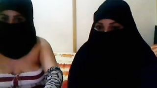 Two naughty Arab chicks flashing their tits on webcam--_short_preview.mp4