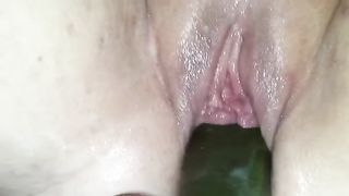 Big veggie in my pumped pussy makes me orgasm--_short_preview.mp4