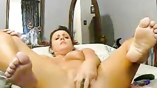 Mature brunette mom poking throbbing wet vagina with big dildo--_short_preview.mp4