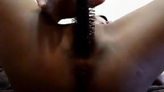 Fucking my shaved cunt with the handle of a brush indoors--_short_preview.mp4