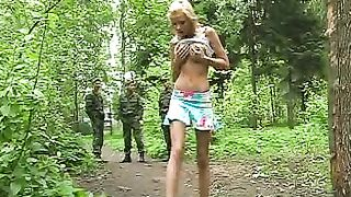Skinny stunning blonde teen flashes her perky breasts and ass--_short_preview.mp4