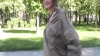 Cute and slender white teen wears nothing underneath raincoat--_short_preview.mp4