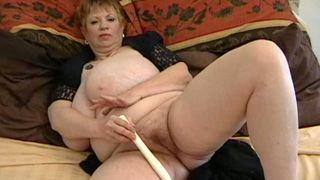 Wicked and fat old BBW woman masturbating on the bed--_short_preview.mp4