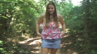 Busty and delicious white sexy girl outdoors flashes her goodies--_short_preview.mp4