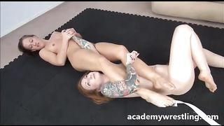 This fit lesbian babe knows how to do an arm bar and she loves strap on play--_short_preview.mp4