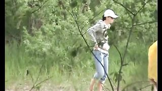White brunette amateur girl pulls down her jeans and pisses--_short_preview.mp4