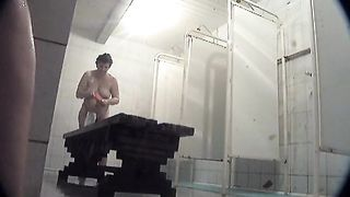 White amateur ladies in the shower room washing their bodies on hidden cam--_short_preview.mp4