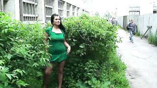 Stunning curvy babe hides in the bushes and shows her breasts--_short_preview.mp4