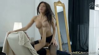 Hot young bitch with fake firm knockers feeds on a cock--_short_preview.mp4