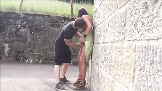Lusty natural tanned brunette leans over the wall while getting twat teased--_short_preview.mp4