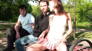 Gorgeous redhead Russian chick likes to flash her pussy in front of strangers--_short_preview.mp4