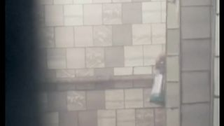 Cute and slender white brunette chick in the public shower room--_short_preview.mp4