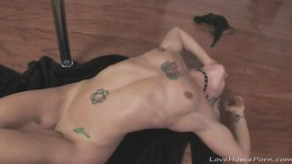 Tattooed babe strips and starts masturbating--_short_preview.mp4