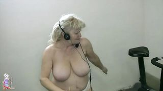 Sporty granny strips nude and rides a stationary bike--_short_preview.mp4