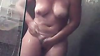 Kinky spy cam vid of chubby housewife taking a shower and drying her butt--_short_preview.mp4