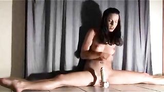 My brunette GF makes a leg split while riding big dildo--_short_preview.mp4