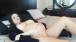 Pregnant black head with huge boobies loves to play with her own cunt--_short_preview.mp4