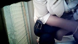 Cute pale skin lady in blue tight jeans wipes her pussy after pissing--_short_preview.mp4