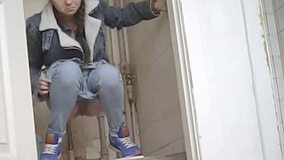 Lovely young white lady in the public restroom pisses--_short_preview.mp4