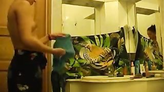 Nice hidden video provided by my buddy of his GF getting ready for shower--_short_preview.mp4
