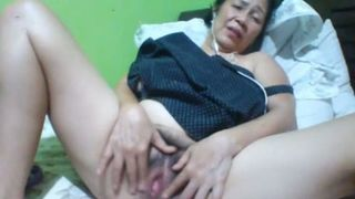 Filipina fatty with dark hair and saggy huge boobs masturbates herself--_short_preview.mp4