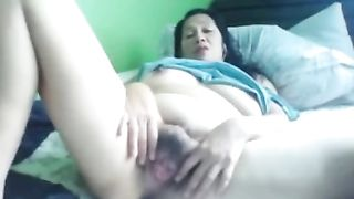 Filipina black haired slut with enormous big tits and ass masturbates herself--_short_preview.mp4