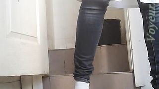 White chick in black jeans and white blouse pissing--_short_preview.mp4