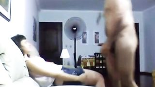 Hidden cam caught Asian long haired gal giving HJ and riding dick--_short_preview.mp4