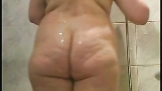 Amateur natural housewife with blond hair and big tits is in the shower--_short_preview.mp4