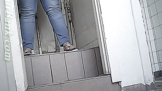 Chunky white amateur woman in the public restroom on spycam--_short_preview.mp4