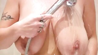 Bosomy hilarious blonde MILF plays with her big tits and twat in bathroom--_short_preview.mp4